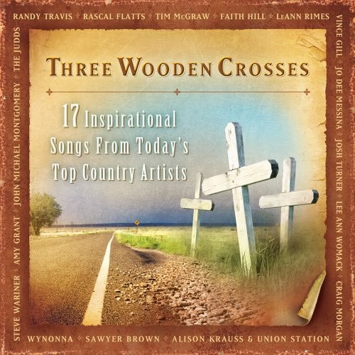Three wooden crosses compilation